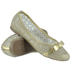 Girls Ballet Flats Lace Mesh Bow and Chain Casual Slip On Shoes Gold Size Girls Ballet Flats, Ballet Kids, Mesh Bows, Casual Slip On Shoes, Kid Shoes, Chain, Lace, Wedding, Fashion