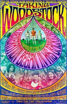 Taking Woodstock: The late psychedelic rock poster. Art by wteresa Woodstock Poster, Woodstock Hippies, Woodstock Music, 1969 Woodstock, Woodstock Concert, Taking Woodstock, Woodstock Festival, Rock Posters, Movie Posters