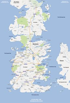 Someone recreated George R.R. Martin's fictional continent of Westeros as a Google Maps map, and it's beautiful.