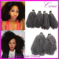 5A Malaysian Virgin Hair Afro Kinky curly Hair Extensions Mixed Length 4pcs Lot Cheap Queen hair Curly Wefts free shipping $65.29 - 238.50