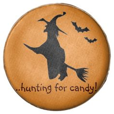 Halloween Witch flying Chocolate Oreo Cookies.