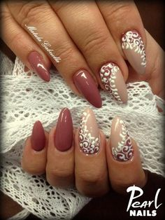 Nails by Gabriella Matula trainer at Pearl Nails. For more picture visit our… Get Nails, Fancy Nails, Love Nails, Elegant Nails, Stylish Nails, Gorgeous Nails, Pretty Nails, Plaid Nails, Toe Nail Designs
