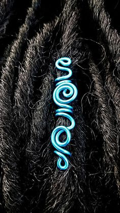 Freestyle Electric Blue Dread cuff sold by Zayunu by Design. Shop more products from Zayunu by Design on Storenvy, the home of independent small businesses all over the world. Dread Jewelry, Dreadlock Jewelry, Dread Beads, Viking Jewelry, Jewlery, Afro Braids, Box Braids, Dread Hairstyles, Black Hairstyles