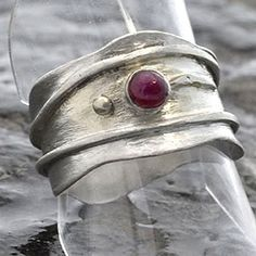 Ruby Ring Sterling Silver Ring with Ruby Silver by ianaJewellery