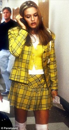 Alicia sported preppy gear to play her hit character Cher Horowitz during in the 1995 film Clueless