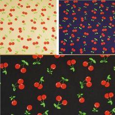 Cherries Polycotton Fabric.   eBay!