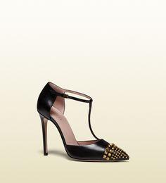 Gucci - escarpins salomé en cuir clouté 353723C9D001000