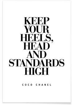 Keep Your Heels als Premium Poster von THE MOTIVATED TYPE   JUNIQE