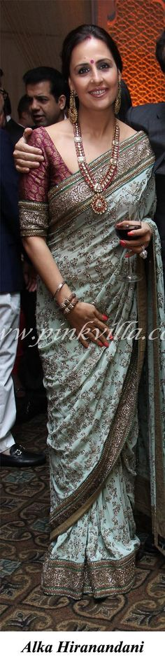Beautiful necklace and saree