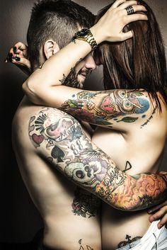 Gonna be my boy and me in a few years.. hopefully. Super cute, I love tattooed couples