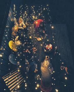 "grace–upon–grace: ""Smashed Avocado "" Cosy Winter, Autumn Cozy, Pumpkin Leaves, Summer Paradise, Backyard Lighting, Autumn Aesthetic, Vintage Air, Pretty Lights, Fall Photos"