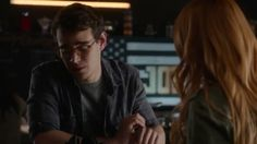 "VIDEO: (1x01) Simon and Clary at Java Jones with Jess Penner's ""Don't Come Over"" playing in the background. #Shadowhunters / Part 3.  Credit: Freeform.  #shadowhunterstv #tmi #abcfamily #themortalinstruments #shadowhunterstvshow"