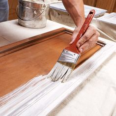 How to Paint cabinets - instructions.
