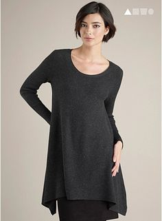 Eileen fisher, another Aline variation: this one has bias drape due to rectangular shaping.