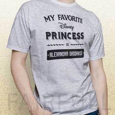 My Favorite Disney Princess is Alexandra Daddario baywatch shirt t-shirt KH01