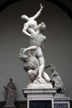 The Rape of the Sabine Women by Giambologna, Florence, Italy