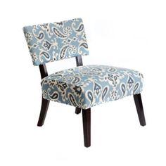 Blue Ikat Accent Chair