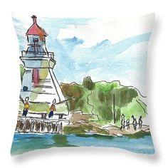 Want to buy this pillow? Click on the title or follow this link:  https://fineartamerica.com/featured/around-the-lighthouse-ali-baucom.html?product=throw-pillow