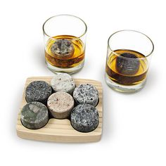 Sea Stones- Set - Full Sized Upcycled Granite Whiskey Chilling Stones- On the Rocks Set Includes 2 Monogrammable Tumblers with Wooden Presentation Tray - Made in the USA with Granite from NH The Rock, Fathers Day Gifts, Gifts For Dad, Good Gifts For Guys, Cheap Christmas Gifts, Xmas Gifts, Cheap Gifts, Christmas Stocking, Diy Gifts