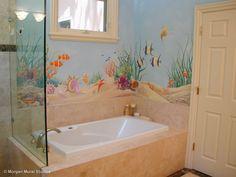 Ocean Floor Bathroom Mural
