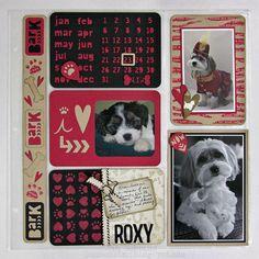 Sizzix Inspiration | Pets Pocket Page Layout by Jan Hobbins