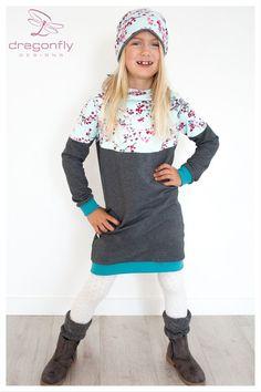 Kleider - Sweatkleid mit Kaputze ♥ - ein Designerstück von dragonflyDESIGNS bei DaWanda