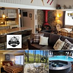 Mountainview Townhouse by Northern Michigan Cabins sleeps 9, with a full kitchen and heated pool access. Book direct with the local manager for the best rate:   #travelmi #mountaincabin #itscabintime #bookdirect