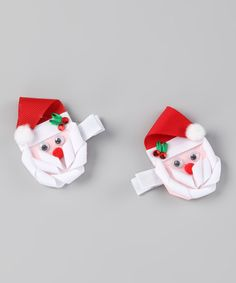Do ---  Take a look at this Bearington Collection Red Santa Clip Set on zulily today!