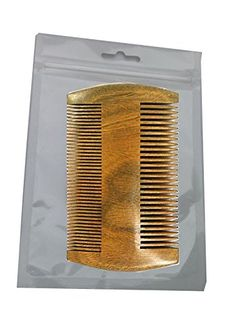 2 Sides Dual-Use Eard Comb Pocket Mustache and Hair Comb,No Static Natural Aroma Handmade Green Sandalwood Comb Wide and Fine Tooth >>> Read more reviews of the product by visiting the link on the image.
