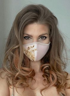 """""""jerry halliday saved to let's face it ! created by jerry halliday . Mouth Mask Fashion, Fashion Face Mask, Diy Mask, Diy Face Mask, Face Masks, Nose Mask, Curl Styles, Protective Mask, Masks For Sale"""