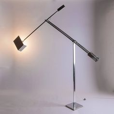 """Huge """"Giraffa"""" Floor Lamp by Angelo Brotto for Esperia 