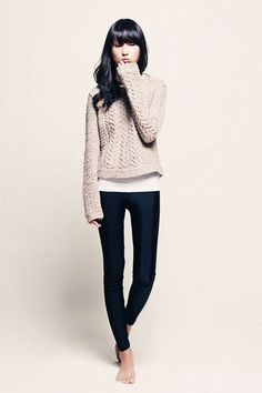 Leggings and sweaters...why oh why must cable knit always add 100 lbs?