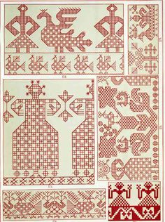 present & correct Russian Embroidery, Blackwork Embroidery, Embroidery Applique, Embroidery Patterns, Loom Patterns, Cross Stitch Patterns, Bordado Popular, Form Crochet, Cross Stitch Bird