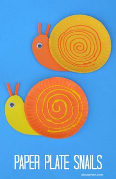 Fun and easy spring or summer paper plate snail craft for kids.