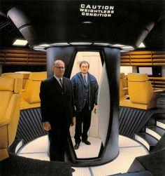 """Artur Klark i Stenli Kjubrik (sa snimanja """"Odiseje u svemiru 2001."""")"""