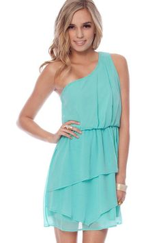 One For You Dress in Seafoam. I am so in love with this color!