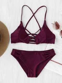 To find out about the Criss Cross Cutout Beach Bikini Set at SHEIN, part of our latest Bikini Sets ready to shop online today! Bikini Modells, Bikini 2018, Bikini Sexy, Bikini Beach, Bikini Tops, Criss Cross, Cute Swimsuits, Women Swimsuits, Bathing Suits
