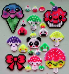 Kawaii Hama perler bead crafts by Oline Art
