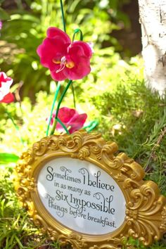 Alice in Wonderland Tea - framed printable from Kara's Party Ideas. (Inspiration)