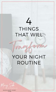 4 Things That Will Transform Your Night Routine // Mary Sabo, The Singing Yogi -- #nightroutine #selfcare