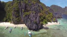 Aerial journey  through landscapes of the El Nido - beautiful Islands, towering marble cliffs, enchanting lagoons, white sandy beaches and lush jungles.  https://www.youtube.com/watch?v=lFMpeClEO4M #Itsmorefininthephilippines