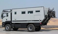 """The expedition-motor home series """"ATACAMA"""" is one of the most favored cabin designs of the world-travel vehicles of ACTION MOBIL. Overland Truck, Overland Trailer, Expedition Vehicle, Iveco 4x4, Custom Trailers, Vanz, Adventure Campers, Off Road Camper, Campervan Interior"""