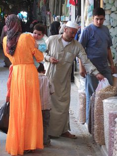 Shopping in the Souq . Aleppo, Syria.