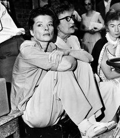 Katherine Hepburn with Constance Collier