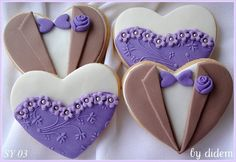 Prom date or bride and groom cookies