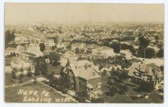 RPPC Aerial View KANE PA Vintage McKean County Pennsylvania Real Photo Postcard