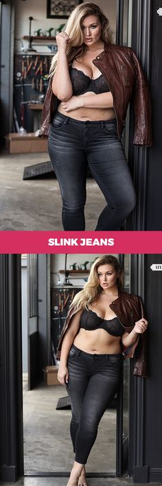 "Dark jeans and jackets combo by www.SlinkJeans.com - Use the code ""FRIENDSANDFAMILY20"" for 20% at checkout"