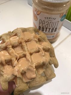 A favorite meal in our house - Gluten-free grain-free plantain waffles with peanut butter. It's quick and great for on-the-go meal. Plantain Recipes, Gluten Free Grains, Gluten Free Breakfasts, Flour Recipes, Vegan Friendly, Recipe Using, Grain Free, Free Food, Real Food Recipes