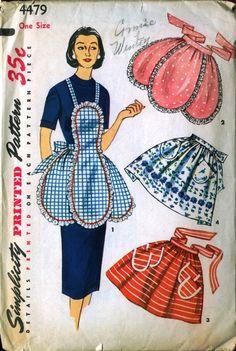 Vintage apron pattern, Simplicity 4479