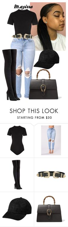 """Untitled #214"" by mayiralove ❤ liked on Polyvore featuring DKNY, adidas Originals, B-Low the Belt and Gucci"